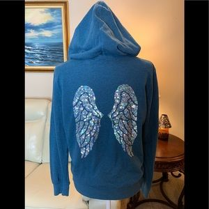 Victoria Secret Hoodie with Sequin Wings